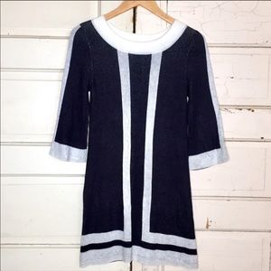 Alice + Olivia Women's Sweater Dress Black/White S